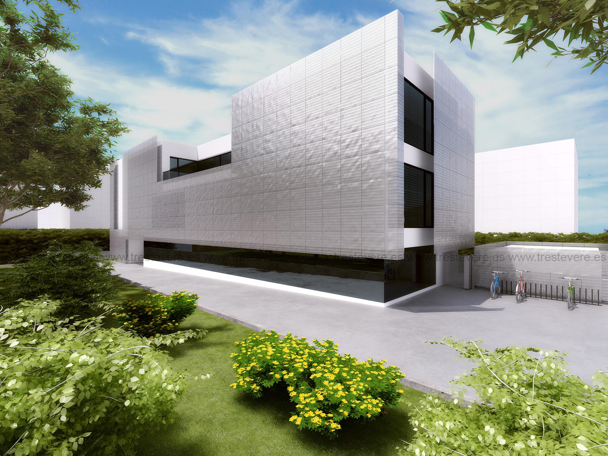 arquitectura biblioteca 3D 01