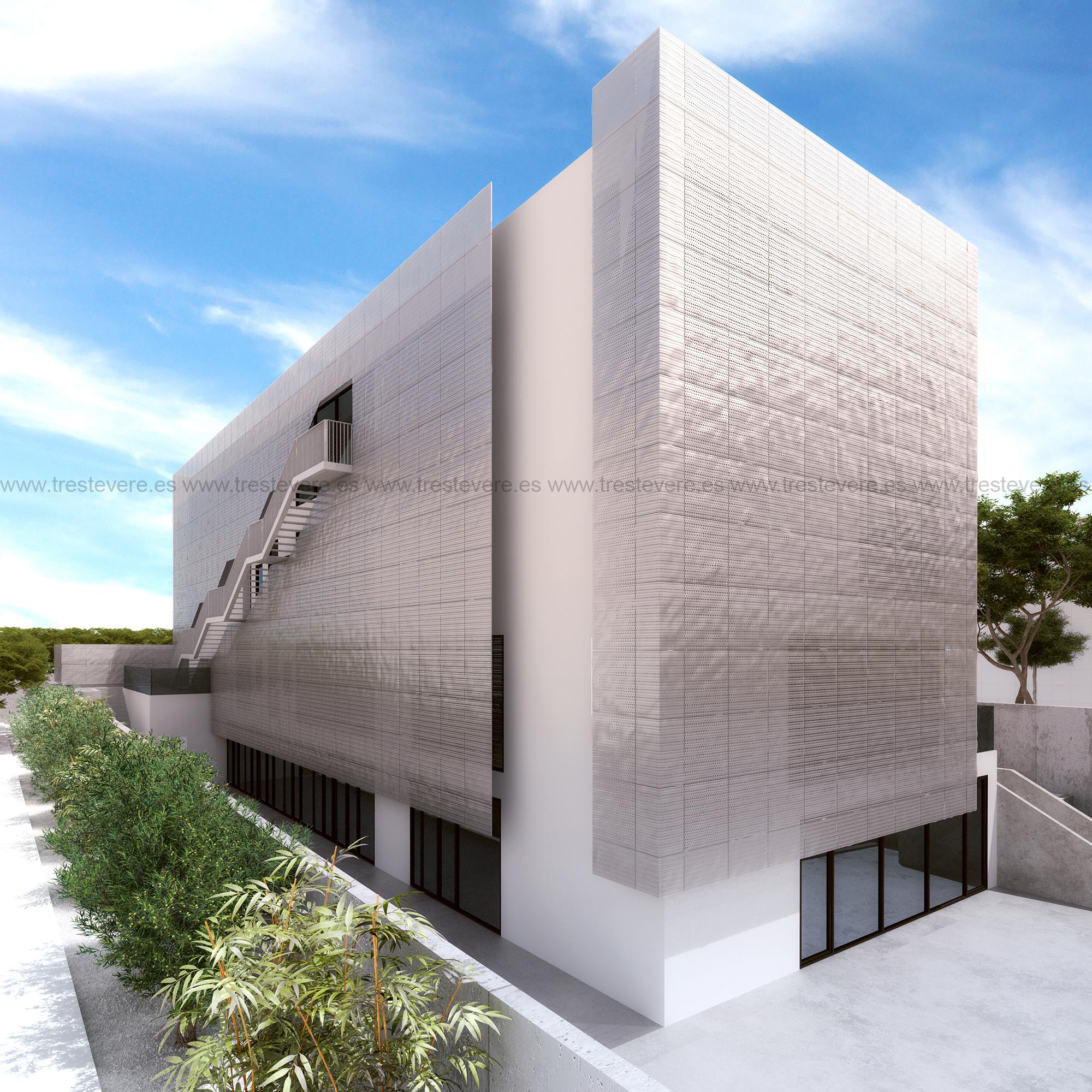 arquitectura biblioteca 3D 02