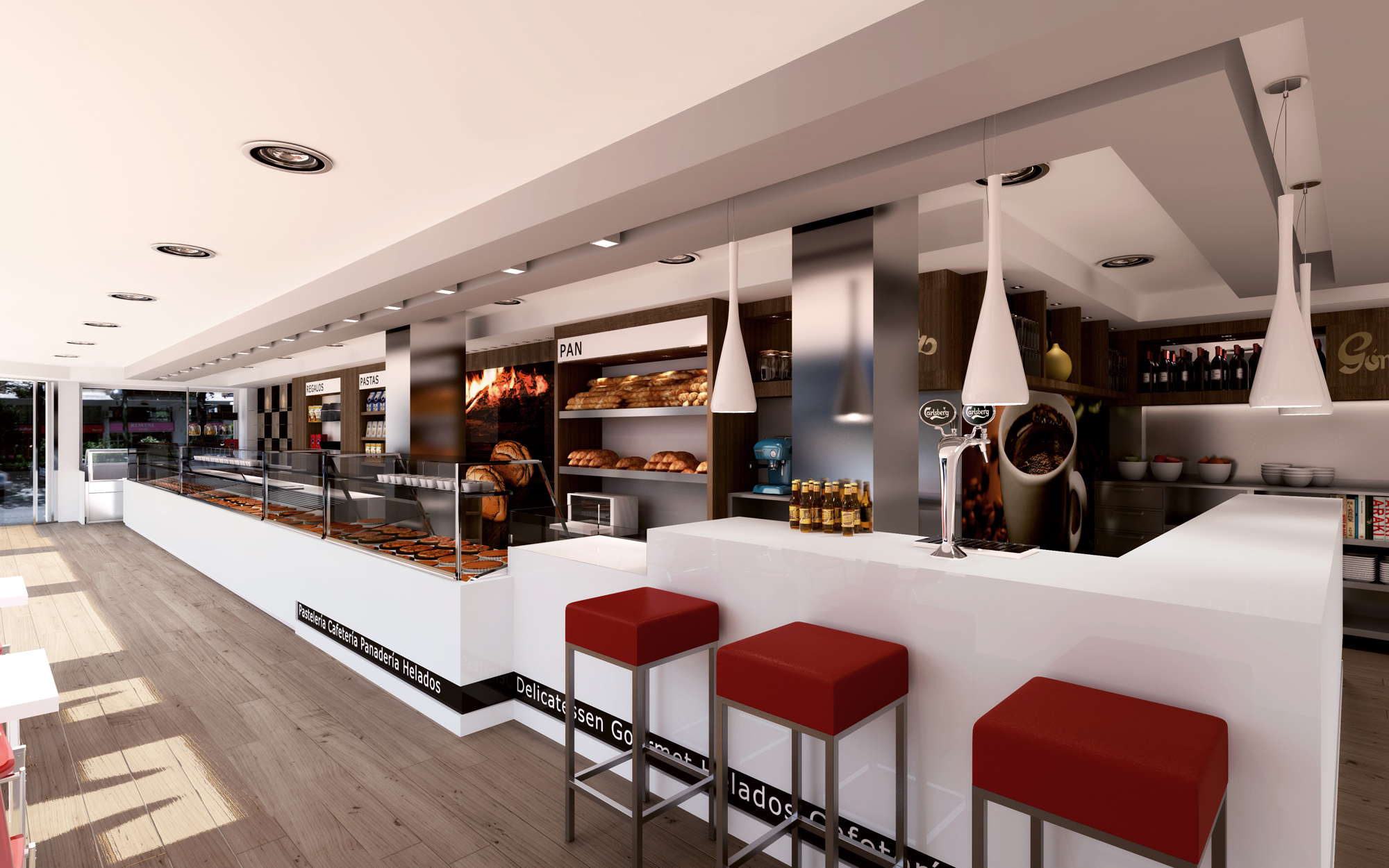 Pasteler as panader as y cafeter as para decorbusier for Muebles para cafeteria df