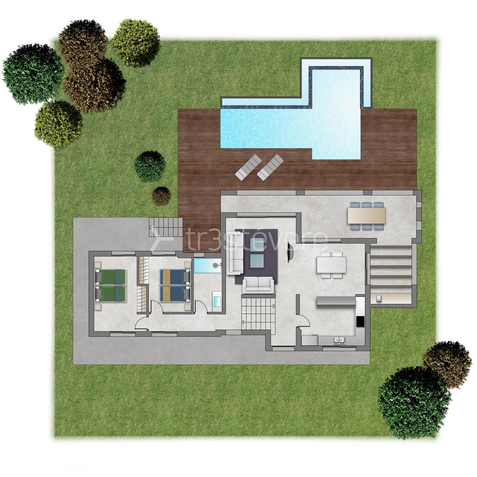 Planos arquitect nicos trest vere infografia 3d for Dibujos de muebles para planos arquitectonicos