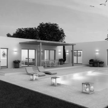 3d vivienda moderna nocturna denia