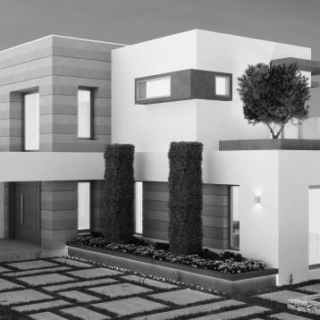 render vivienda moderna gandia