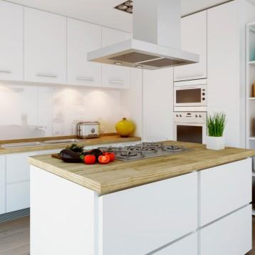 3d cocina lacada blanca