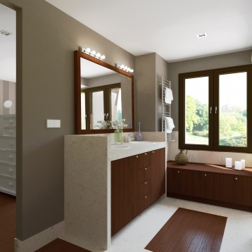 render baño marmol