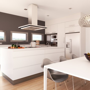 infografia cocina lacada blanca