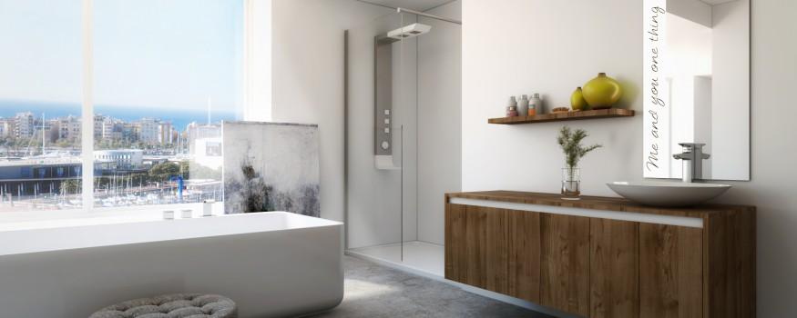 Imágenes 3D mobiliario baño para catálogo