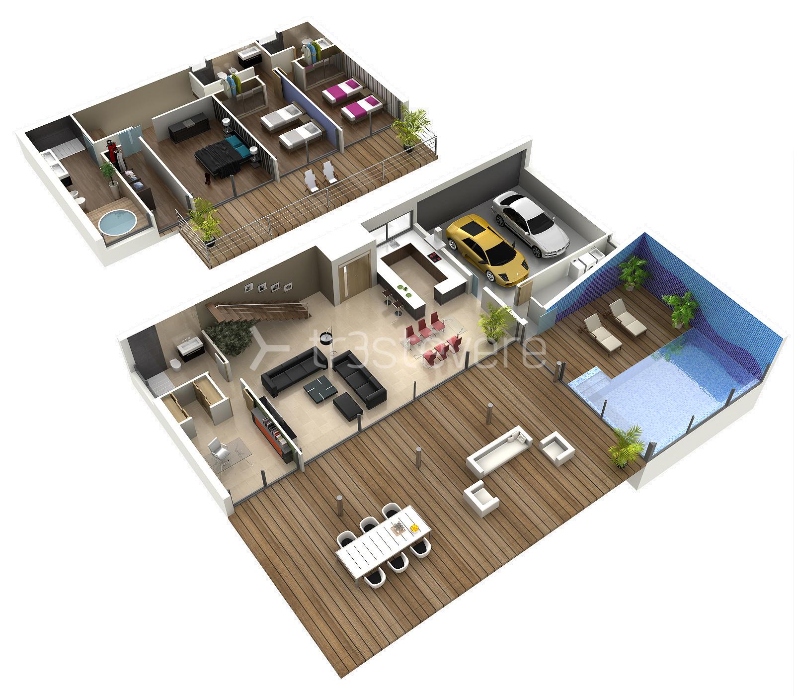 Planos arquitect nicos trest vere blog infografia 3d - Planos de pisos de lujo ...