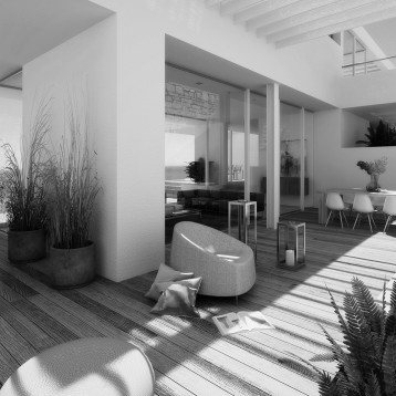 infografia vivienda moderna solarium