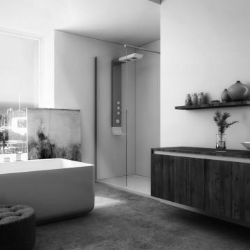 3d baño microcemento