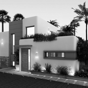 infoarquitectura vivienda ibicenca entrada casa