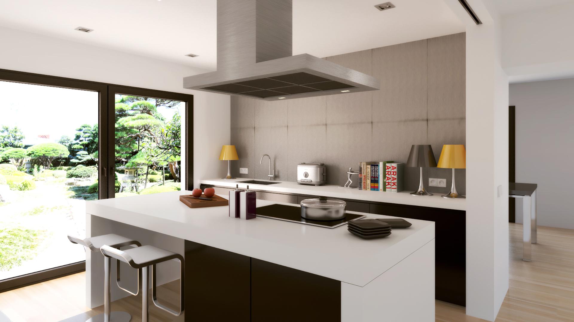 render cocina moderna