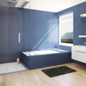 3d baño ducha-bañera