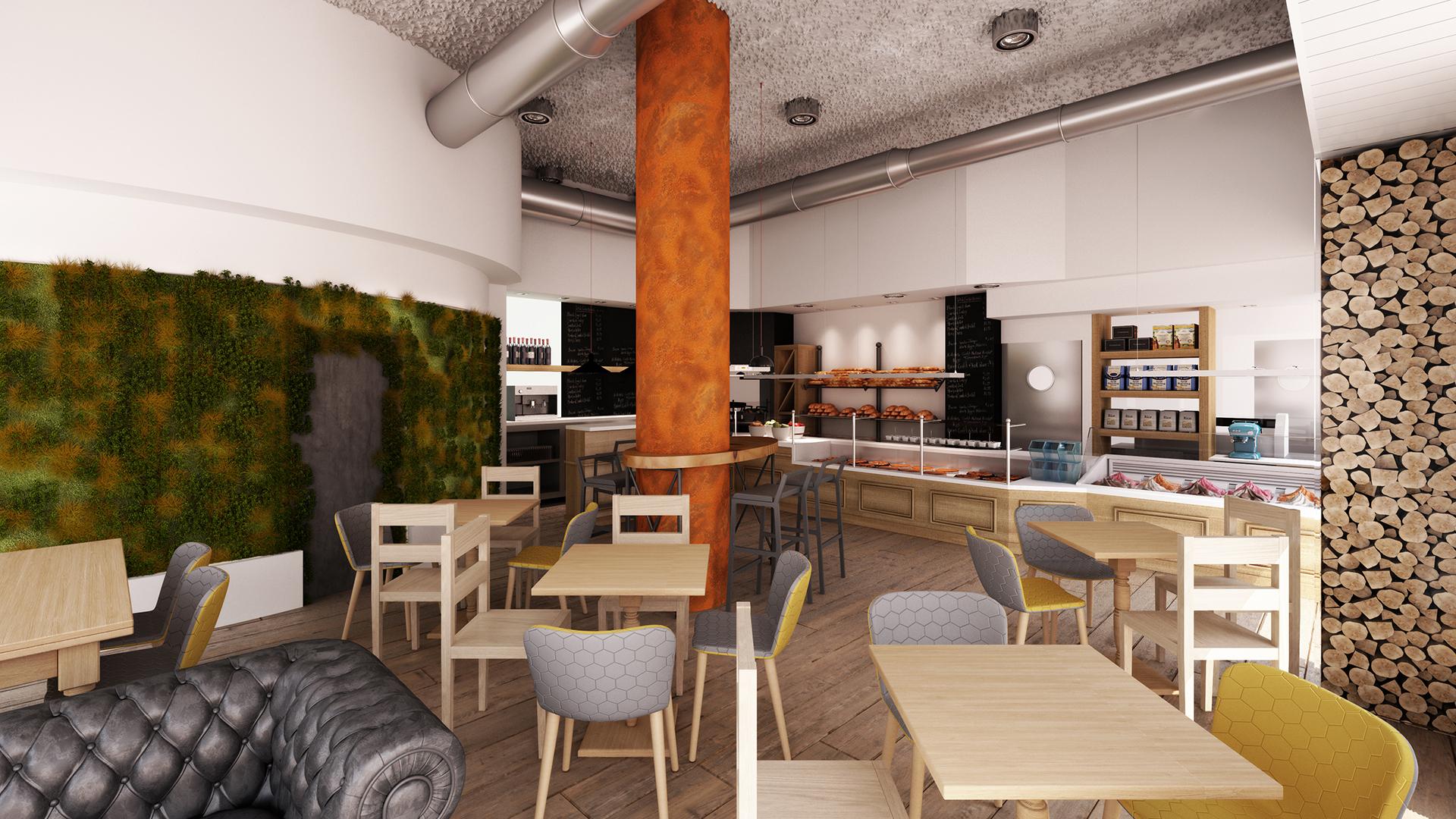 3d cafeteria pasteleria