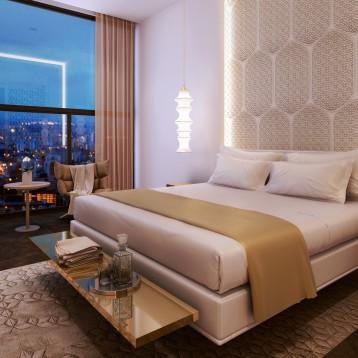 render habitacion hotel valencia